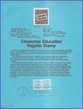 US #2005 U/A SOUVENIR PAGE FDC STR2  Consumer Education