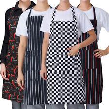 Womens Mens Cooking Kitchen Restaurant Chef Bib Apron Dress Anti Oil with Pocket