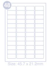 500 A4 foglio 8 ovale mm adesivo etichetta autoadesiva etichetta 96 x 63 carta etichetta per una stampante a getto dinchiostro e laser