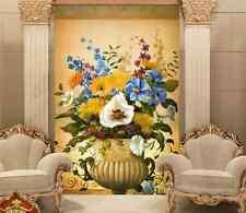 3D Fleur en Pot Photo Papier Peint en Autocollant Murale Plafond Chambre Art