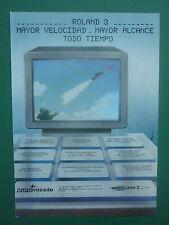 7/1985 PUB EUROMISSILE MISSILE AIR SOL ROLAND 3 AEROSPATIALE MBB SPANISH AD