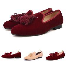 Gentleman Mens Tassel Cuban Suede Slip On Loafers Casual Leisure Shoes Low Heel