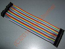 40x Jumper wire Kabel 1p-1p 20cm Dupont Steckbrücke male female Stecker Buchse