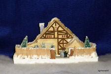 Radko Shiny Brite SPARKLE TOWN Paper Putz Miniature House RARE NEW NIP Retired