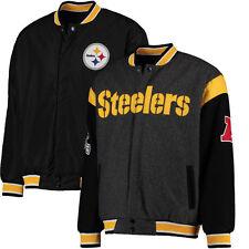 NFL Men's Pittsburgh Steelers Wool Reversible Varsity Jacket