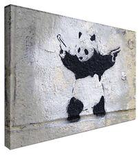 Banksy Panda with Guns - NEW BANKSY Modern Graffiti Art Canvas Print