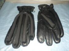 NOS Black Vintage Motorcycle Gloves Chopper Bobber Cafe Racer Size S & LG