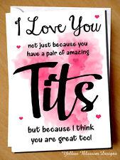 Funny Joke Valentines Birthday Christmas Card For Her Wife Girl Friend Novelty