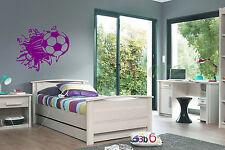 Il CALCIO SMASH Wall Art Vinile Grafico Adesivo Carta da Parati Decalcomania / BAMBINO!!!