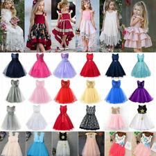 Baby Kinder Mädchen Prinzessin Partykleid Tüll Tutu Kleider Festlichkleid Blumen