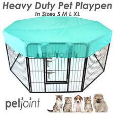 Heavy Duty Pen Pet Exercise Playpen 8 Panel Enclosure Cat Dog Poultry Cage Fence