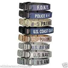 Cetacea Tactical Dog Collar - Army Navy Air Force Marines Coast Guard Police