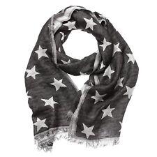 Shruti Design Silver Grey Glitter Star Stars Winter Scarf Shawl Wrap Pashmina