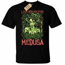 Kids Boys Girls Medusa T-Shirt look into my eyes female demon snakes