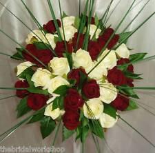 Bride Rose, Foliage & Bear Grass Handtied Posy Wedding Bouquet Flowers