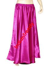 Violet Red - Satin Maxi Skirt 4-5 Yard Belly Dance Tribal Half Circle Robe Gypsy
