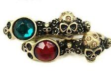 Vintage punk biker goth skull / skulls double finger ring multiple choices