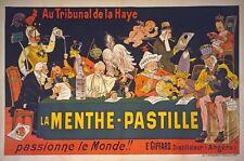 Az21 Vintage 1900 menthe-pastille licor francés Cartel Publicitario a1/a2/a3 / A4