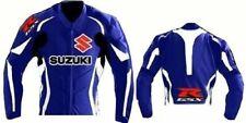 Suzuki Blue Motorcycle Sports Leather Jacket Motorbike Racing Leather Jacket