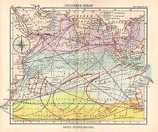 1944 SMALL GERMAN MERCANTILE MARINE MAP ~ THE INDIAN OCEAN