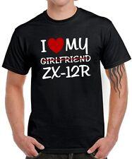 T-SHIRT I LOVE MY GIRLFRIEND zx-12r TUNING MOTO incontro satira KAWASAKI