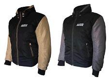 Mkr urbano estilo casual moto chaqueta con capucha con protectores certificado por la CE