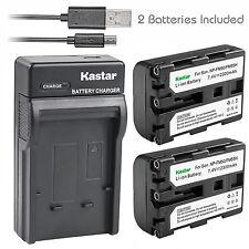 Kastar Battery Charger Sony NP-FM50 NP-FM55H Alpha A100 A100H A100K A100K KIT1