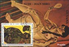 Guyana Block98 (kompl.Ausg.) gestempelt 1990 Gemälde EUR 3,50