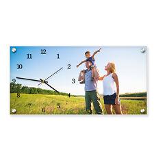 Personalizzata Acrilico Rettangolo immagine parete con orologio incorporato. FOTO STAMPATA