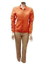 Completo tuta da ginnastica donna arancione beige Forza9 sport palestra con zip