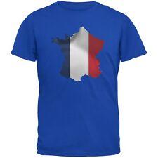 France Flag Blue Adult T-Shirt