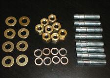M8 X 37 Collettore Borchie & brass nuts, zincati, Inlet SCARICO selezionare Qtà