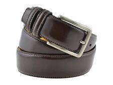 Cintura pelle uomo vernice marrone vitello spazzolato elegante artigianale
