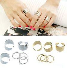 6-er Set sechs Ringe Fingerspitzen Ring Gliederring Fingerring Blogger Statement
