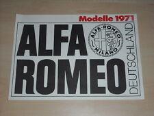 42042) Alfa Romeo GT 1300 Montreal Giulia Super Spider GT Veloce Prospekt 1971