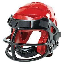 ProForce Lightning Karate Helmet w/ Faceguard Cage Face Shield Headgear - Red