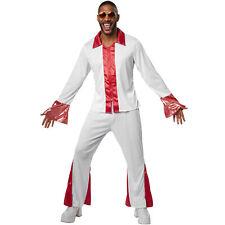 Costume Uomo Disco Dancer Fever 70s 80s Rock Star Discoteca Vestito  Carnevale nu cf19b97c4ac