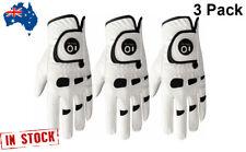 Men's Golf Gloves Leather 3 Pack Ball Marker Left Right Hand Lh Rh Handed Bionic