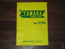 Ersatzteilliste / Spare Parts List Yamaha YZ 125 / YZ125 Stand 12/1974