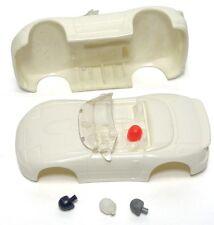 1992 TYCO HO Mazda Miata BLANK TEST SHOT Slot Car BODY w/4 Different HEADs! Rare