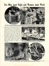 1915 CANADESE Ambulanza CORPS DONNA COSTRUZIONE AEREI Potters gasworks