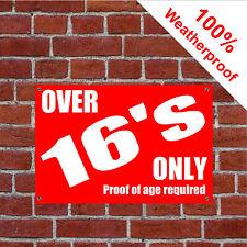 Über nur 16's Proof Of Alter Required Schild 9164
