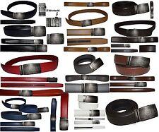 "Men's belt, Genuine Leather Dress/casual Belt Lizard Auto lock Buckle UP to 50""."