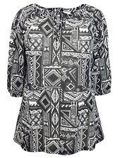 Ivans plus size 18 22 24 26 28 Soft Cotton Modal Blouse Top Tie Neck Black White