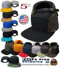 5 Panel Camper Hat Cap New Strapback Men Black Adjustable Mens Era Flat S Racer