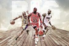 Kobe Michael Jordan LeBron James Basketball legend art wall poster silk 60x90 cm