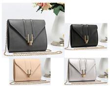 New Women Faux Leather Fold Over Style Handbag Clutch Wedding Prom Shoulder Bag