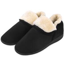 Men's Plush Warm Ankle Bootie Slippers Fuzzy Memory Foam Winter House Shoes