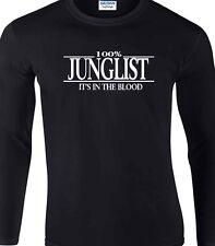 Selecta t-shirt à manches longues 100% drum & bass dj beats hip hop club dubstep