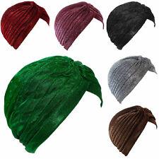 Turbante donna cuffia lurex cappello pieghe morbido elegante TOOCOOL 149729